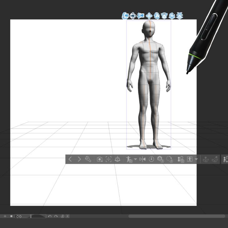 クリスタの3Dデッサン人形の表示位置を変更
