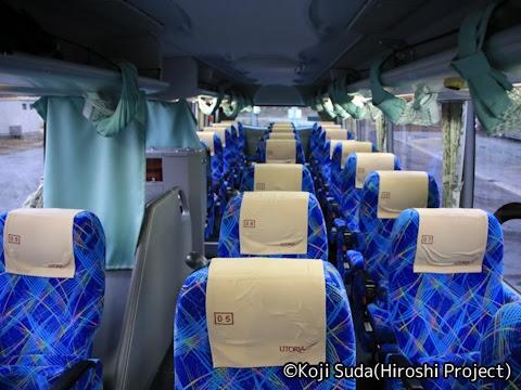 山交バス「アルカディア号」専用車 1502 車内