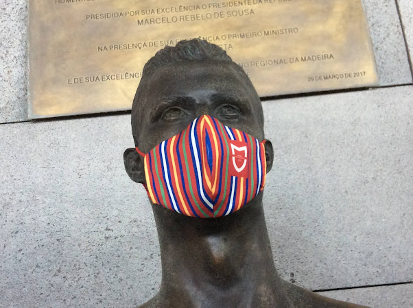 Zelfs Ronaldo draagt een masker.