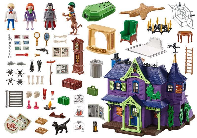 Contenido  de Playmobil® 70361 Aventura en la Mansión Misteriosa