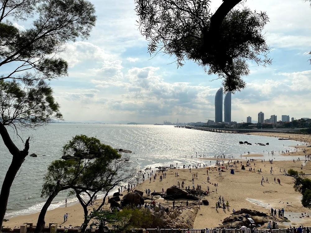 日环食之后的沙滩