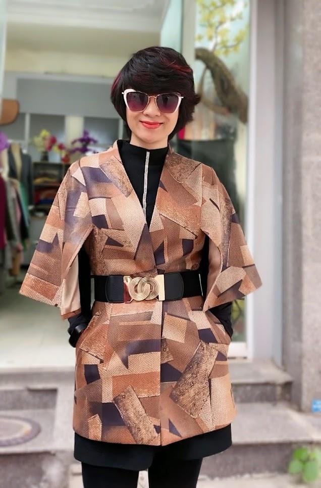 Áo khoác Cape nữ mix quần legging V748 thời trang thủy ở quảng ninh