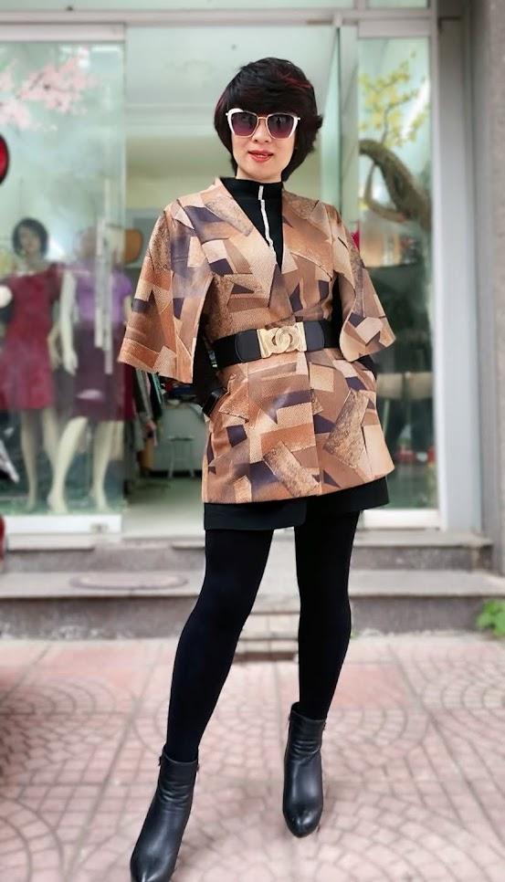 Áo khoác Cape nữ mix quần legging V748 thời trang thủy ở sài gòn