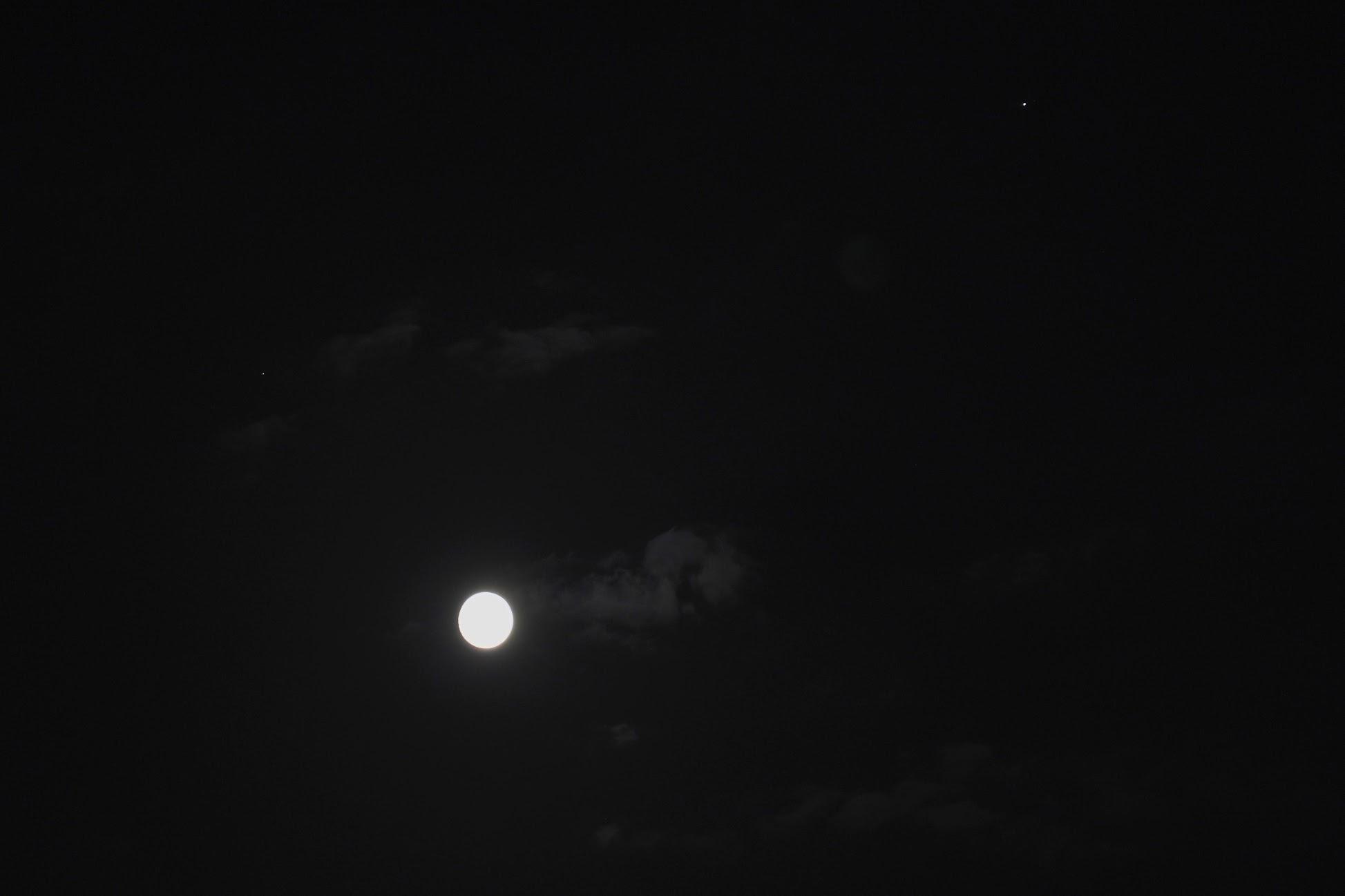 月と土星と木星【2020/08/02】