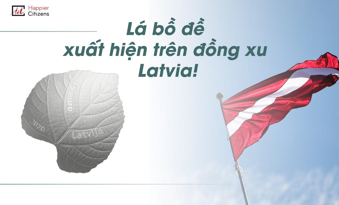 Lá-bồ-đề-xuất-hiện-trên-đồng-xu-Latvia