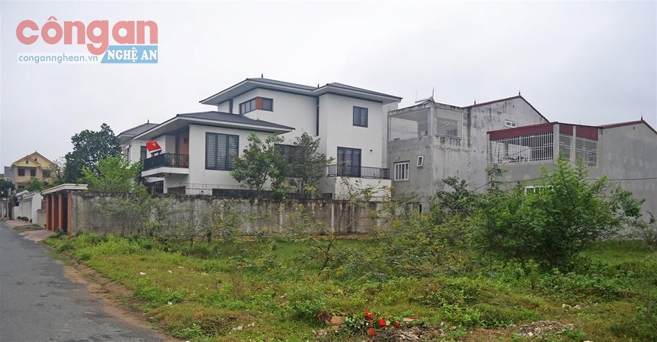 Một công trình xây dựng sai quy hoạch tại Dự án Minh Khang, xã Nghi Phú
