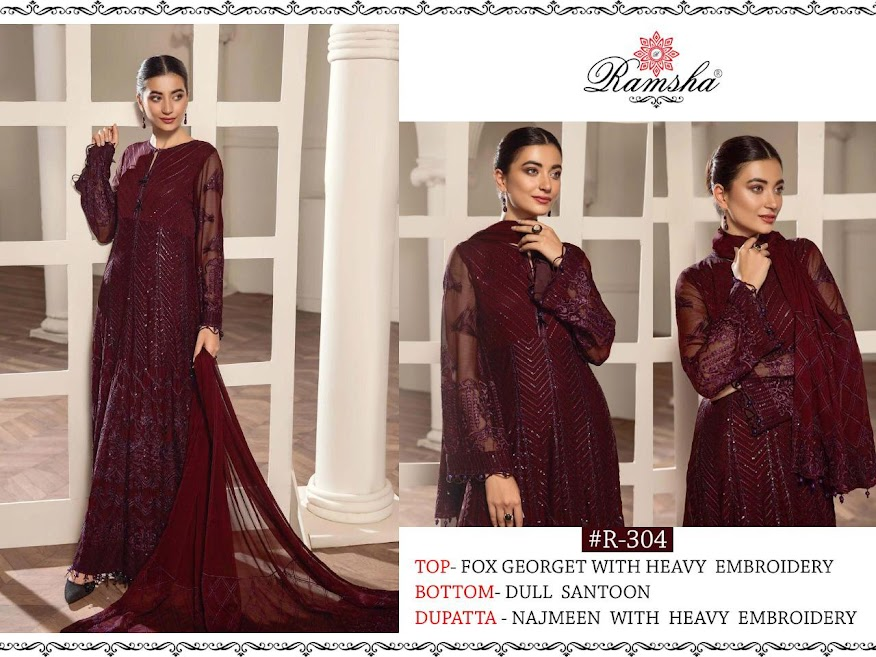 Ramsha R 303 To 306 Pakistani Salwar Suits Catalog Lowest Price