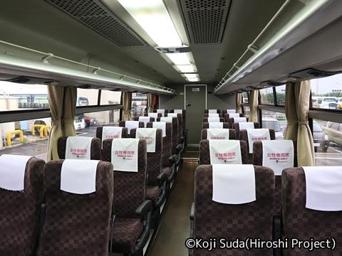 京王バス「中央高速バス白馬線」 車内