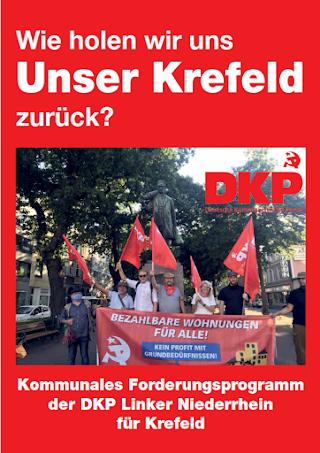Titelseite der Broschüre «Wie holen wir uns Unser Krefeld zurück?»