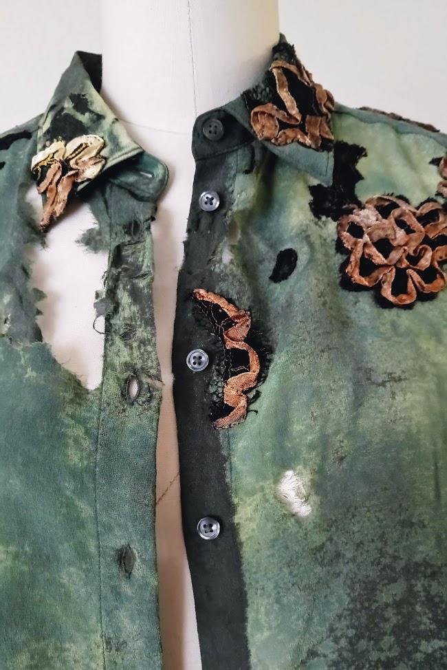 Assessment of Damage - Silk Boro Shirt   FAFAFOOM STUDIO