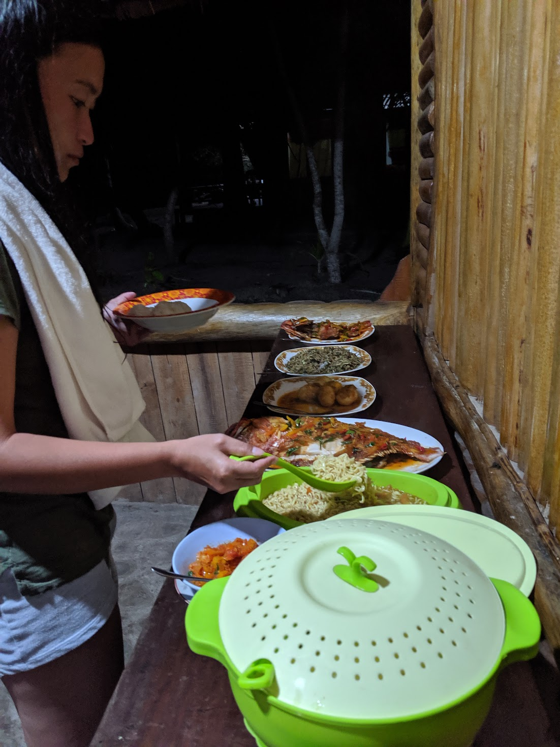 Typical dishes served at Raja Ampat homestay