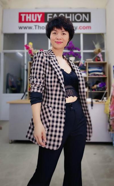 Áo vest nữ kẻ caro mix đồ quần ống vấy màu đen trắng V738 thời trang thủy sài gòn