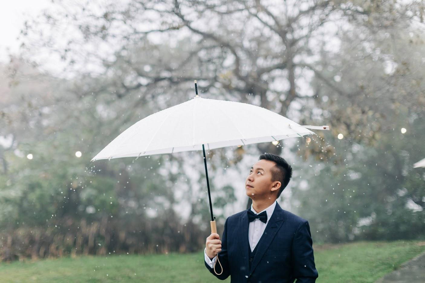 雨天的顏氏牧場,旋轉雨傘