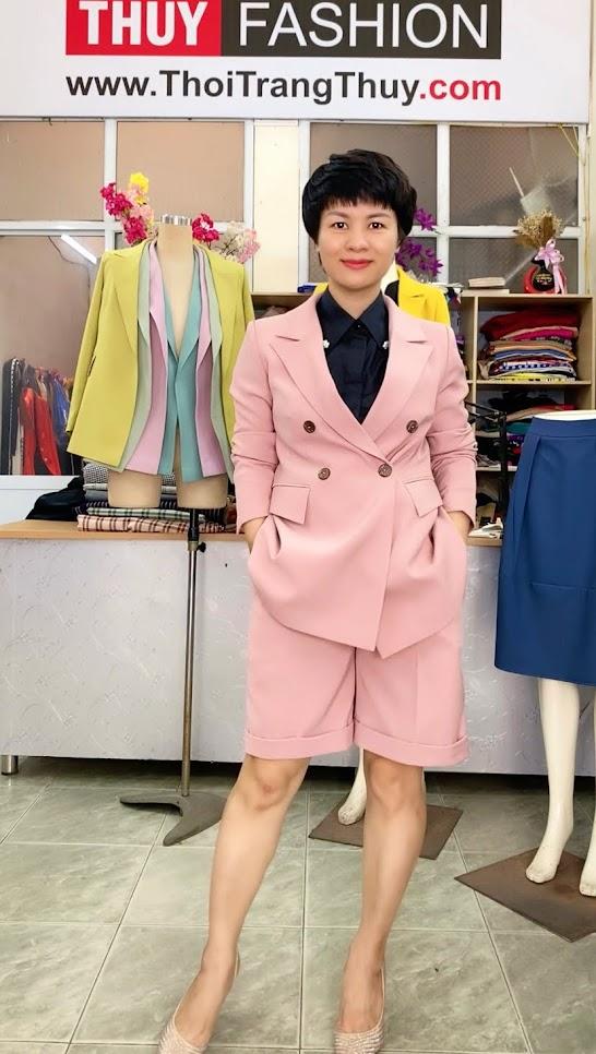 Áo vests nữ dáng suông mix đồ quần short ngắn V731 thời trang thủy hải phòng