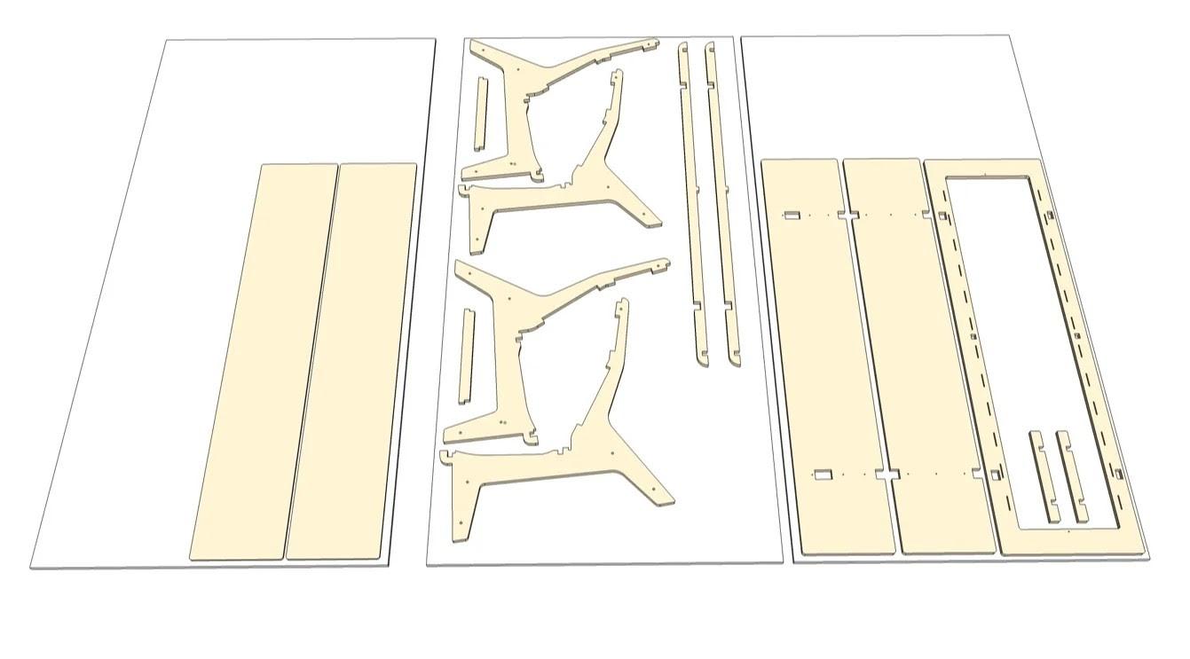 Примерная карта кроя деталей будущего дивана