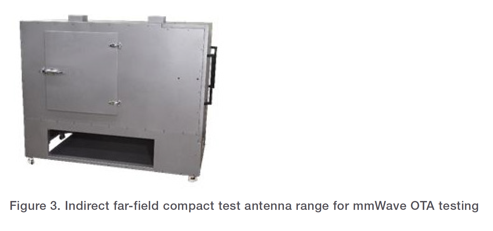 Figure 3. Indirect far-field compact test antenna range for mmWave OTA testing
