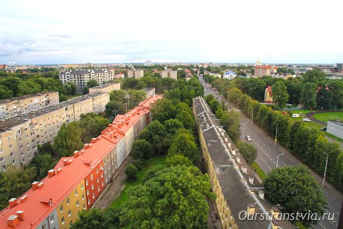 Длинные немецкие дома на улице Горького, Калининград