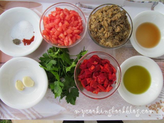 Кьопоолу (дип) от печени патладжани, печени червени чушки и още нещо