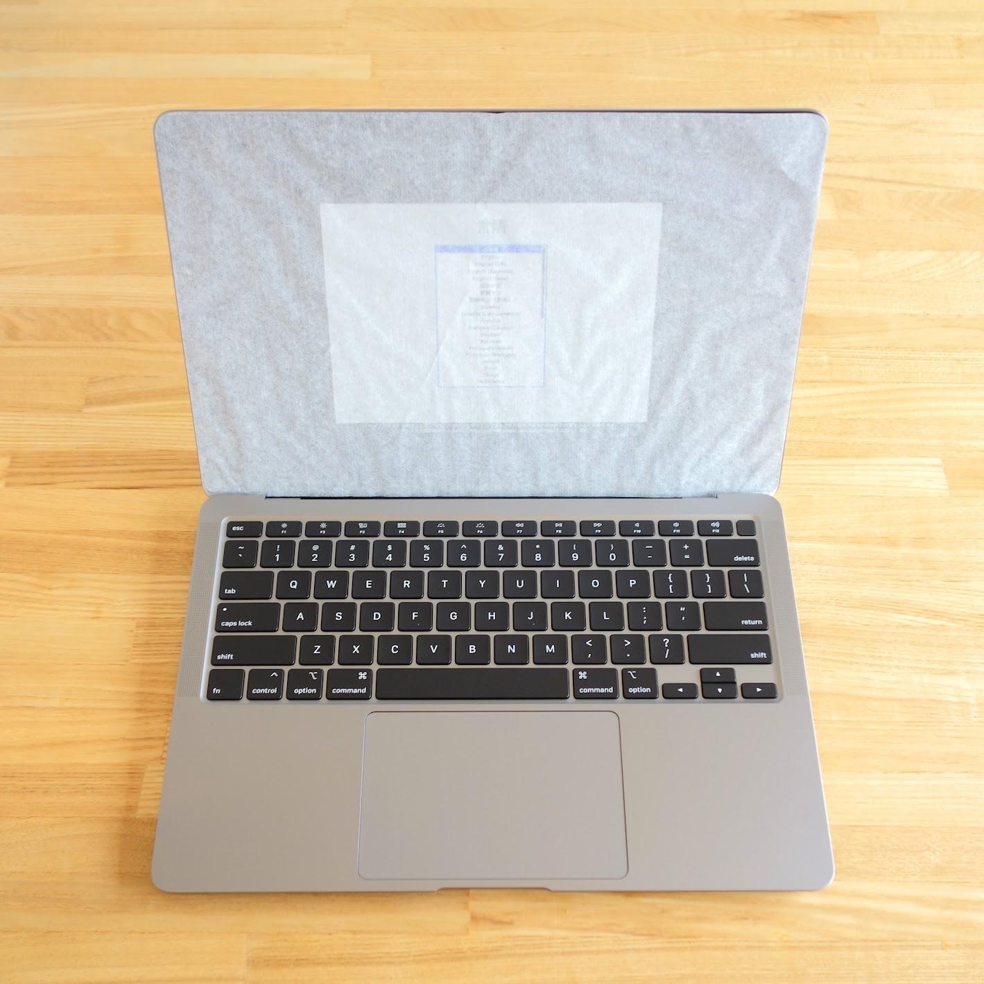 MacBook Air 開封