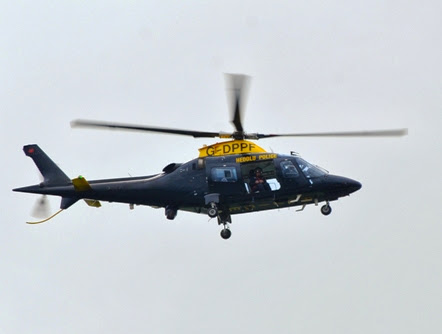 Police chopper search for missing person