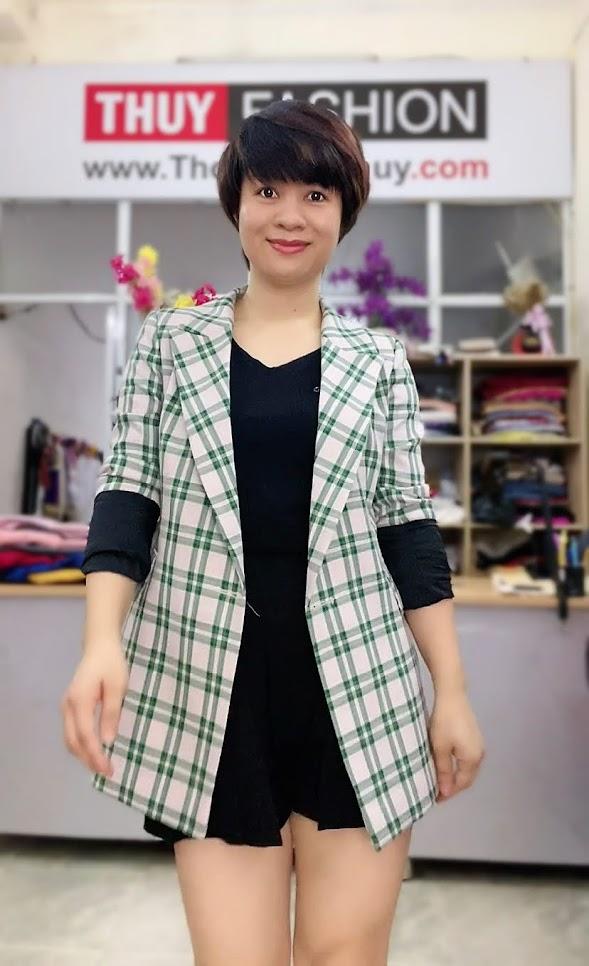 Chú ý lựa chọn áo vest nữ kẻ caro V736 thời trang thủy ở hải phòng