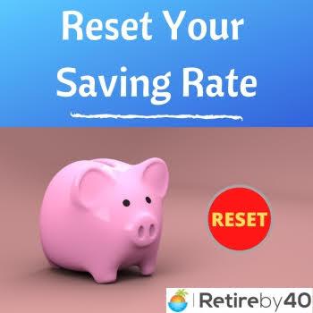 Redefinir sua taxa de economia