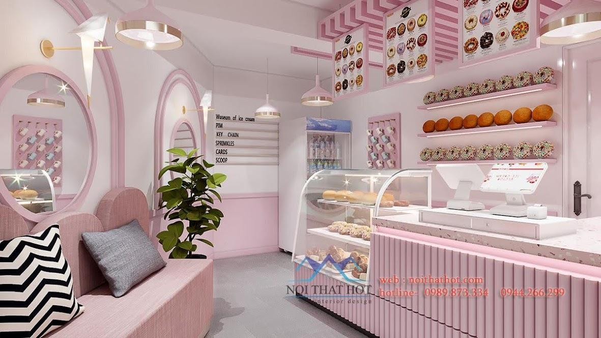 thiết kế cửa hàng bánh ngọt hà nội