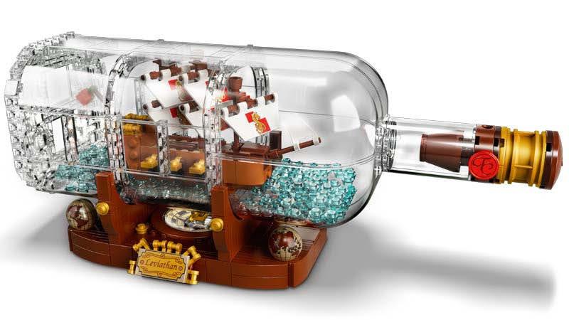 Contenido de LEGO® 92177 Barco en una Botella