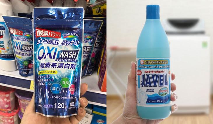 Chất tẩy Oxy và chất tẩy Clo