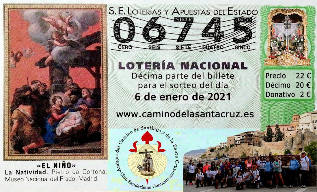 Lotería Nacional del Niño, Amigos del Camino de Santiago