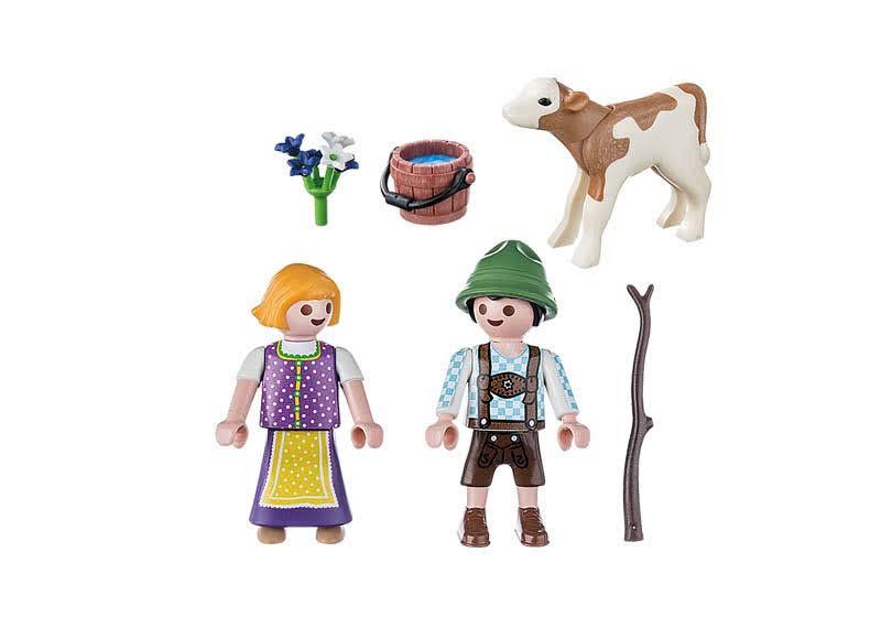 Contenido Real de Playmobil® 70155 Niños con Ternero
