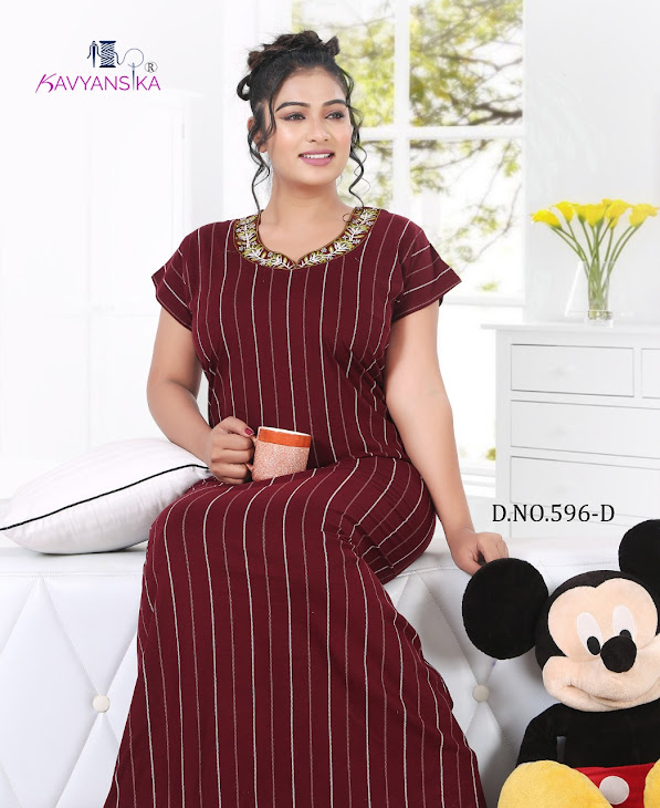 Vol 596 Kavyansika Designer Nighty Manufacturer Wholesaler