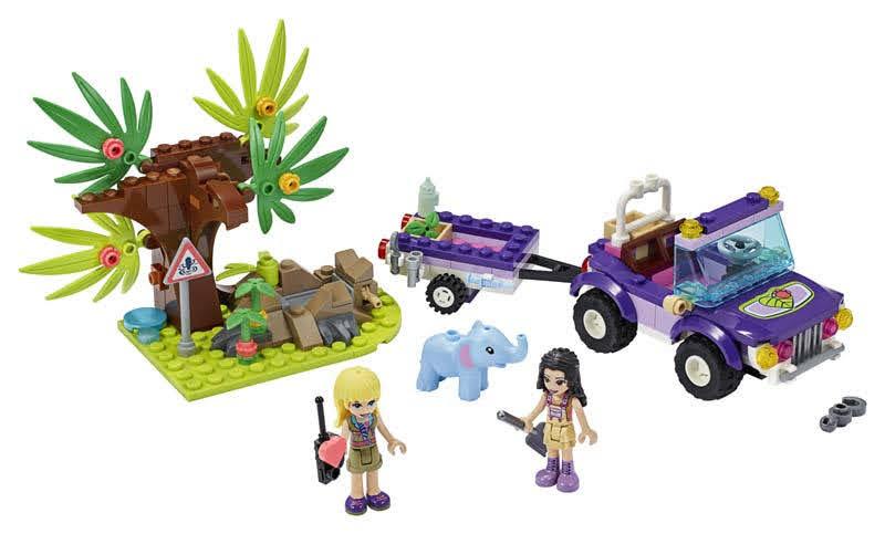 Contenido de Lego® 41421 Rescate en la Jungla del Bebé Elefante