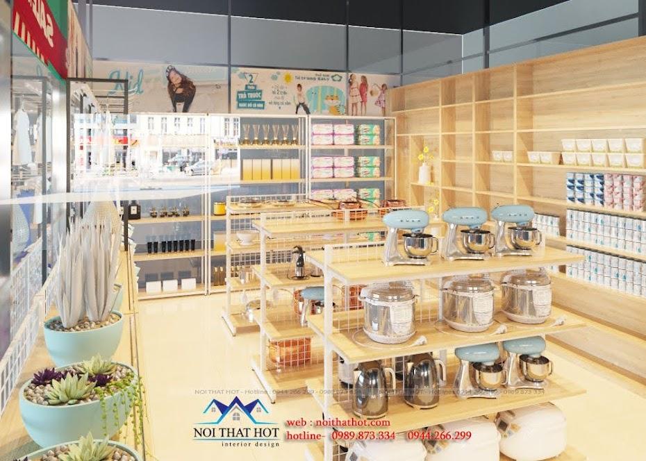 thiết kế shop đồ nhập khẩu cao cấp