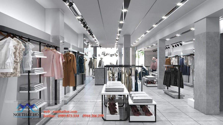 thiết kế shop thời trang hãng đẹp
