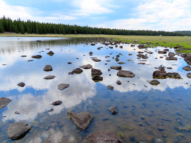 Rocky reflection in Twin Lakes