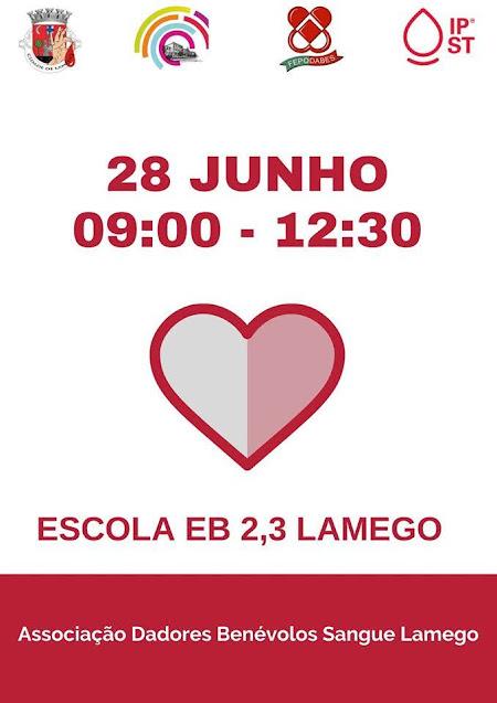 Dádiva de Sangue – Lamego – 22 e 28 de junho de 2020