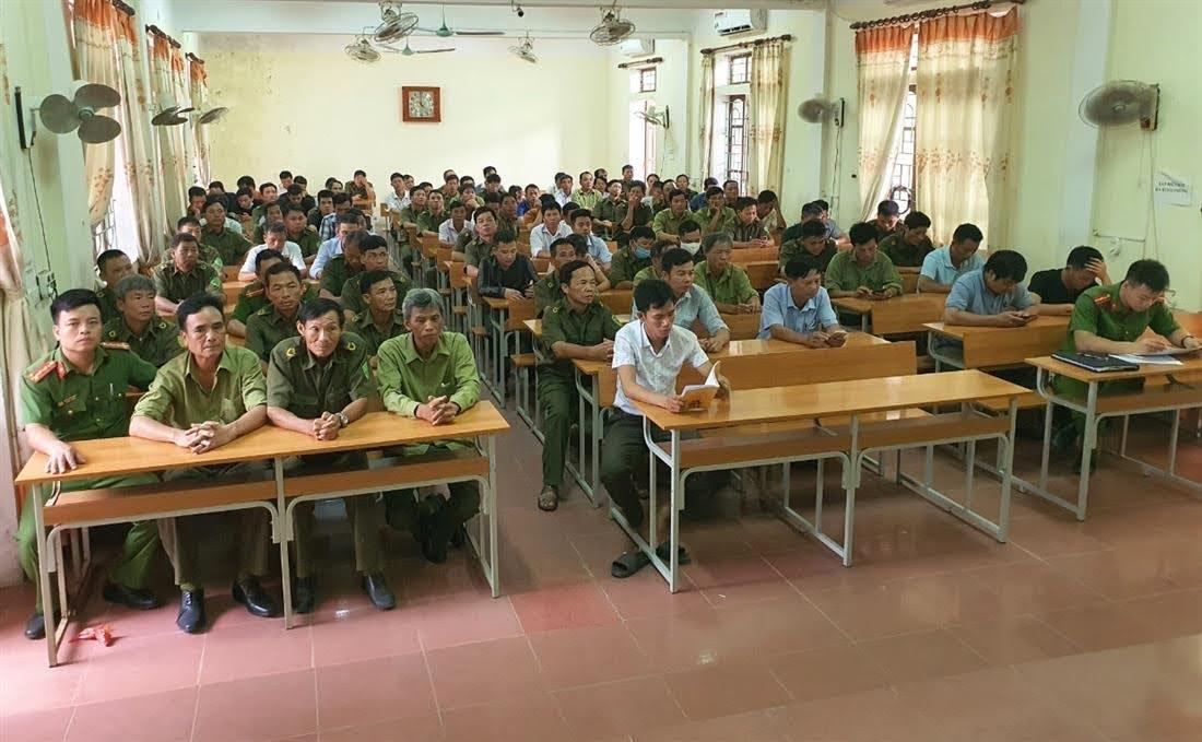 Tham gia lớp tập huấn có 114 học viên là các đồng chí dân phòng của 38 xã, thị trấn trên địa bàn huyện Thanh Chương.