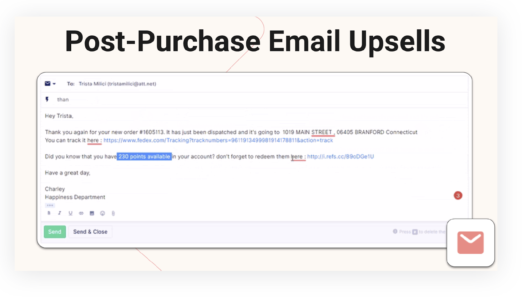 Post-Purchase Email Upsells