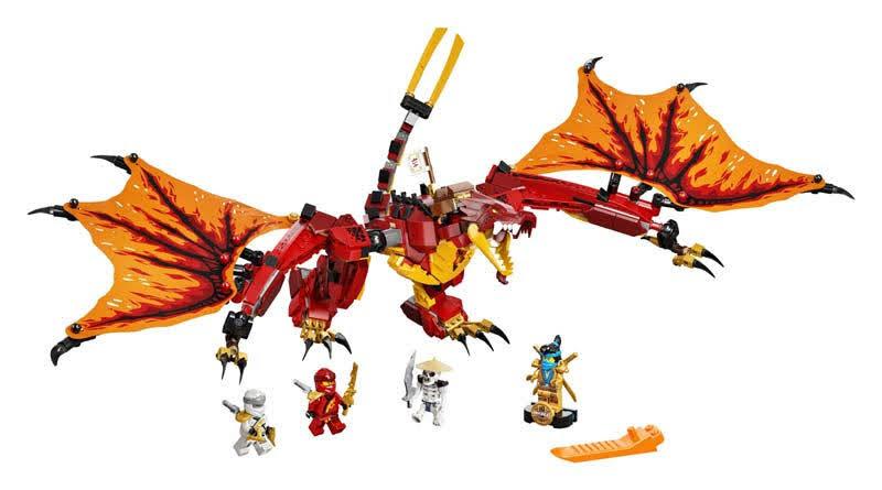 Contenido de LEGO® 71753 Ataque del Dragón de Fuego