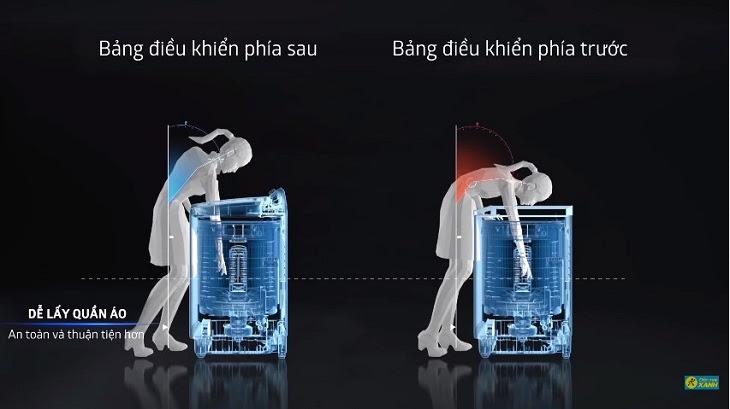Máy giặt Panasonic Inverter có thiết kế thông minh