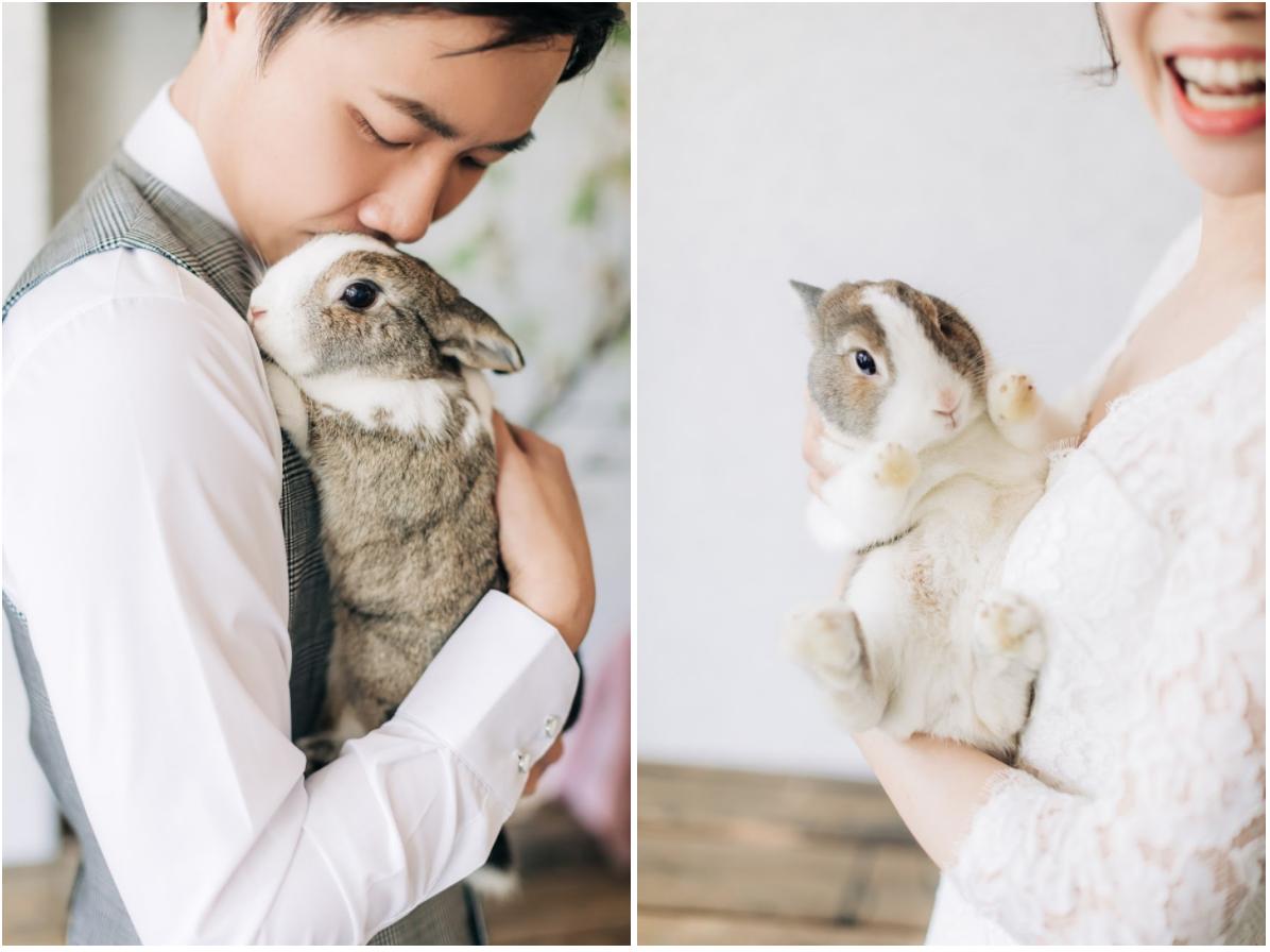 寵物婚紗兔子篇 / 兔子 毛小孩 婚紗 / 美式婚紗婚禮 / 兔寶寶 婚紗, 今年春天,我們在 搖籃婚紗攝影棚 ,替Fish & Wolf 拍攝了這組 兔子 寵物 婚紗,在溫暖的春季 , 兩人帶著各自的 毛小孩 , 搭配攝影棚的簡約復古,令人印象深刻。這是一次非常深刻的 兔子 寵物婚紗 經驗,而棚拍後,我們又再前往海邊,追著暖陽和微風, 替他們拍攝AG專屬的 逐光 婚紗。