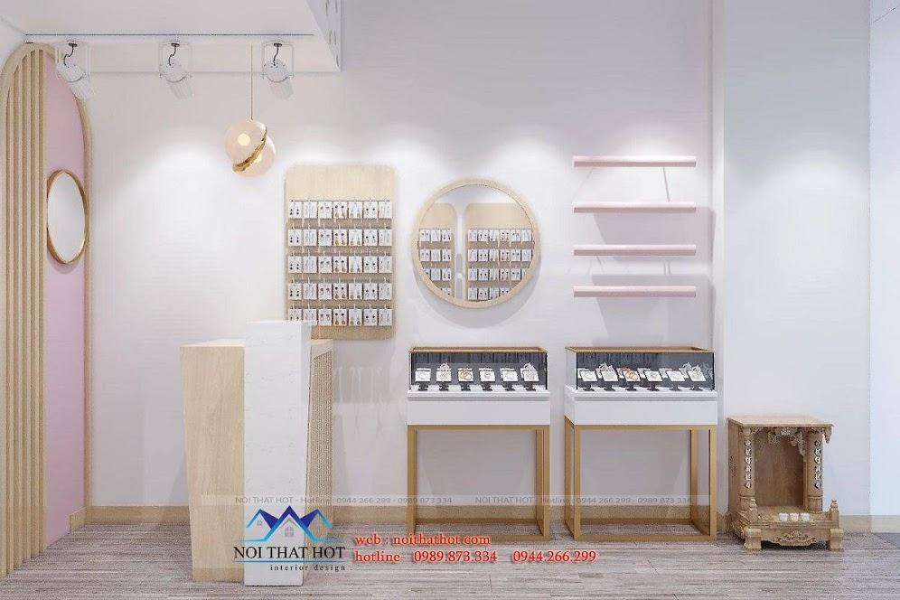 thiết kế nội thất shop phụ kiện