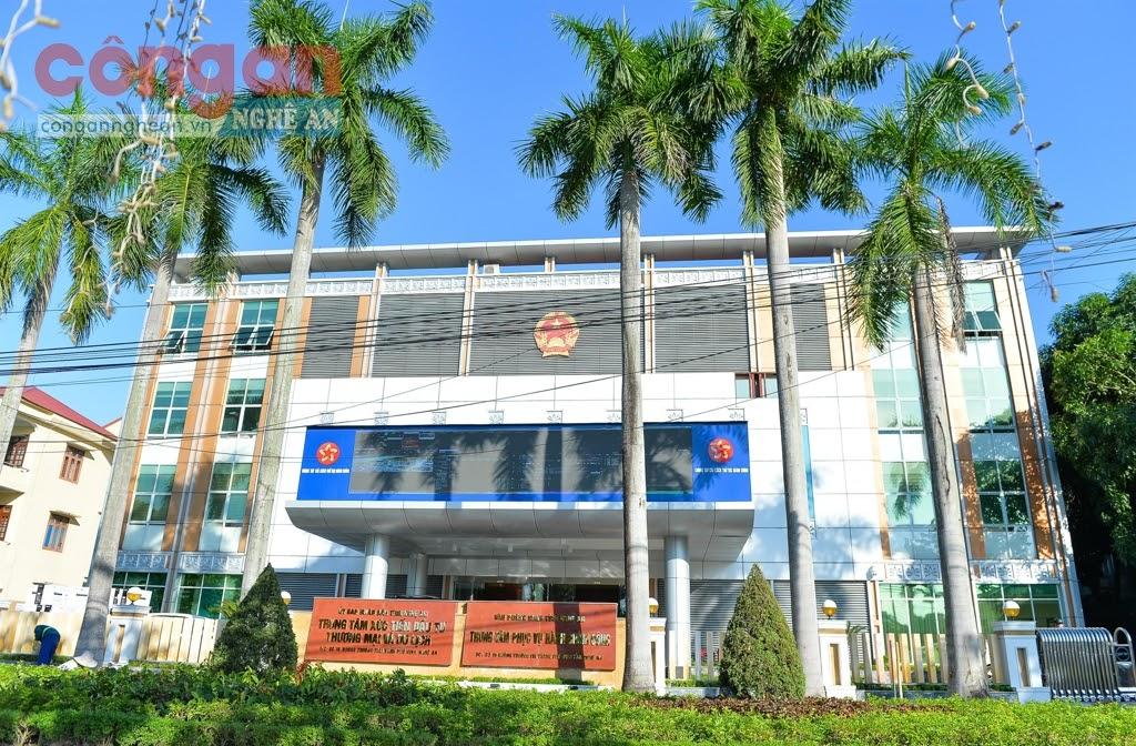 Trung tâm Phục vụ hành chính công có địa chỉ tại số 16, đường Trường Thi (TP Vinh) -  Ảnh: Thành Cường
