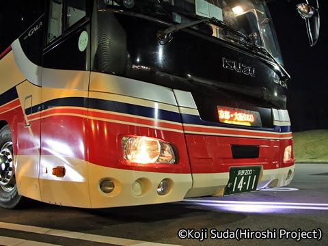 千曲バス「千曲川ライナー」 1411 梓川SAにて_02
