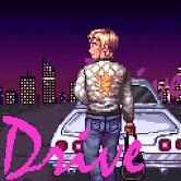 Pixel art of the movie Drive