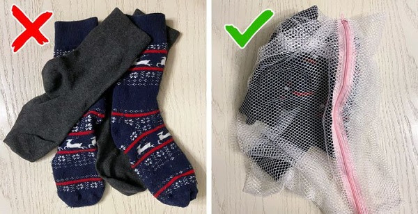 khoog để quần lót, tất trong túi giặt