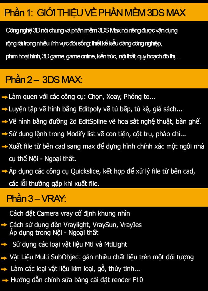 Trung tâm đào tạo 3Ds max uy tín tại Hoàn Kiếm