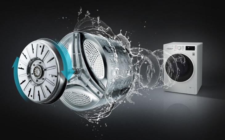 máy giặt truyền động trực tiếp cho khả năng giặt và sấy nhanh hơn, hiệu quả hơn