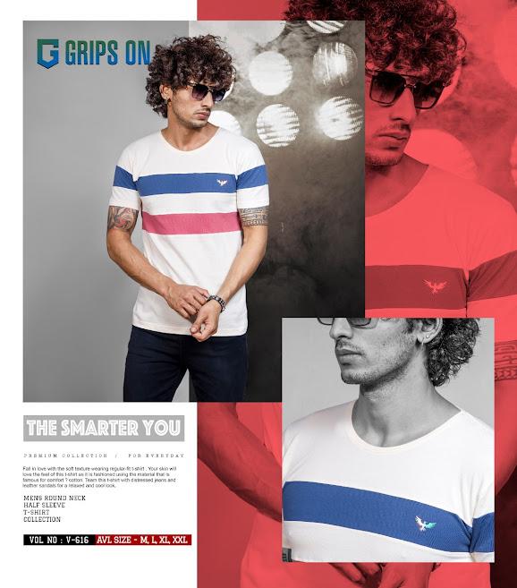 Grips On Vol 616 Mens Tshirts Catalog Lowest Price
